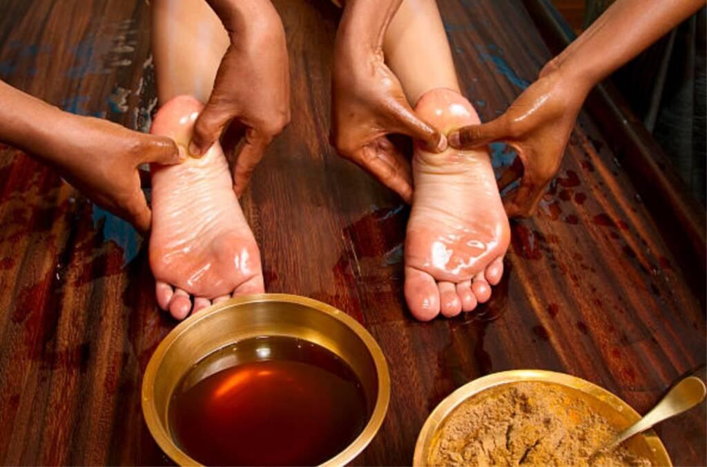 Marmas del pie en Ayurveda